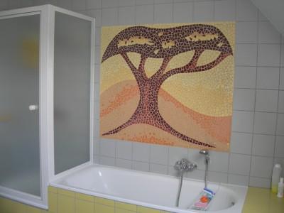 muurmozaïek badkamer