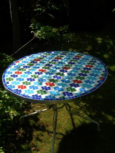 mozaïek tafel